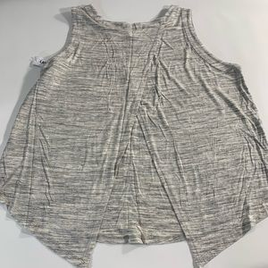 Old Navy   New Workout Top Gray Large Open Back